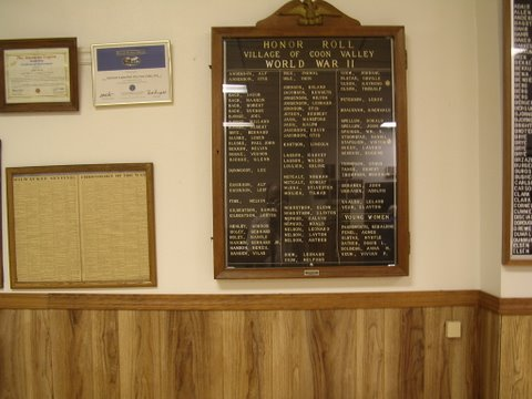 wall plaques in meeting room